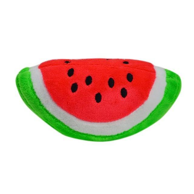 Pet Chew Squeaker Squeaky Plush Sound Fruits Vegetables