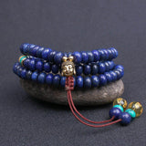 Handmade Mala With 108 Natural Semi-Precious Lapis Lazuli Stone Beads