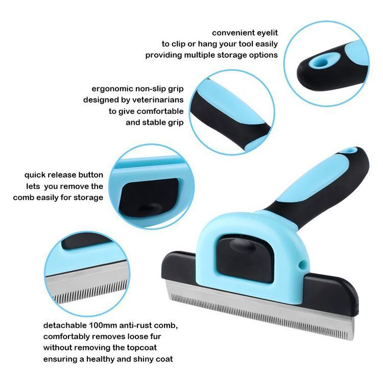 #1 Worldwide deShedding Comb | Dog Cats Hair Remover Brush Grooming with Detachable Clipper