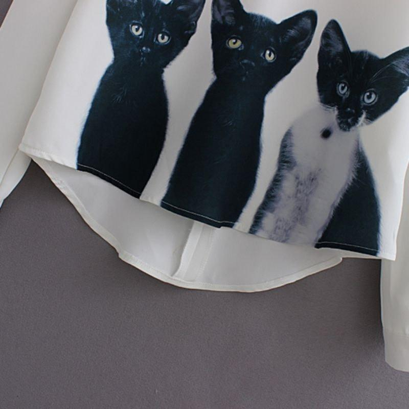 3 Cats Long Sleeve Top
