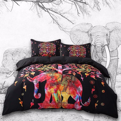 Indian Elephant Bedding Duvet Set