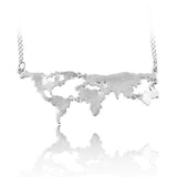 Globetrotter World Map Necklace