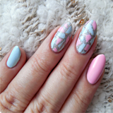 Edgy Irregular Triangle Pattern Nail Art Stencil