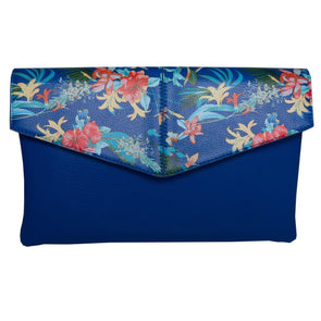 Blue Tropical Print Bag-Madison Heart of New York