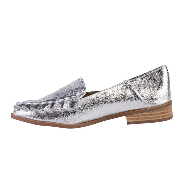 Madison Delaney Silver Moccasins