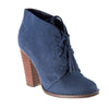 Kayla Navy Ankle Boots-Madison Heart of New York