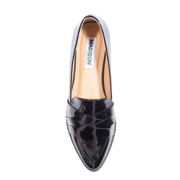 Madison Kristen Black Loafers