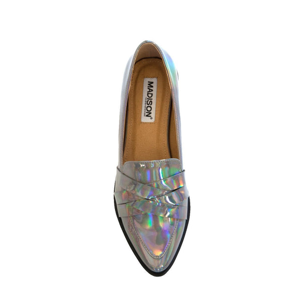 Madison Kristen Silver Loafers