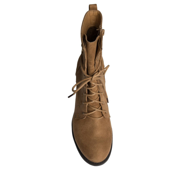 Madison Alden Tan Suede Ankle Boots-Madison Heart of New York