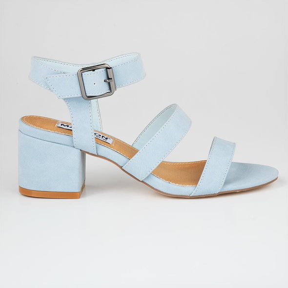 Madison Daphne Blue Block Heels