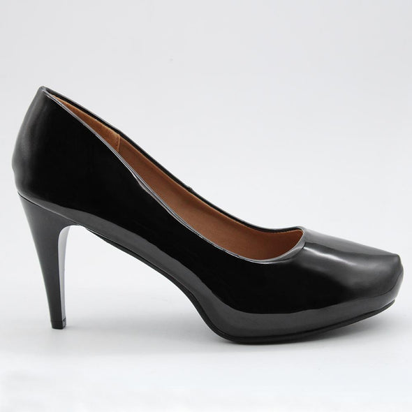 Madison Emmy Platform Court Heels - Black