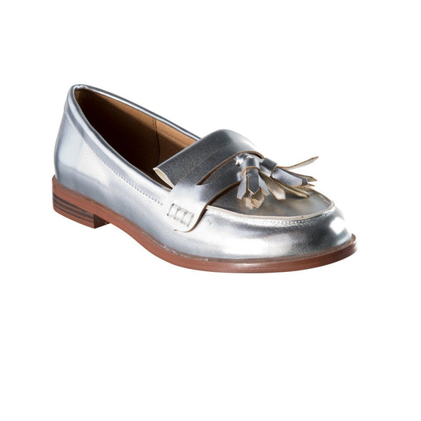 Madison Jasmine Silver Loafers
