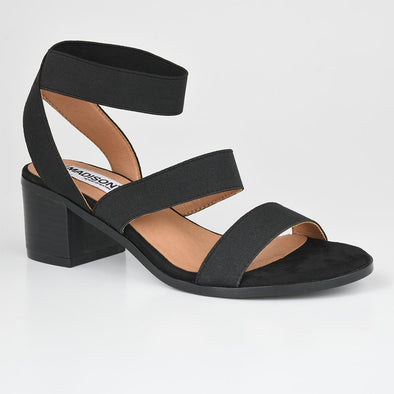 Madison Jayde Black Block Heels
