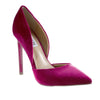 Madison Leah Burgundy Velvet Court Heels