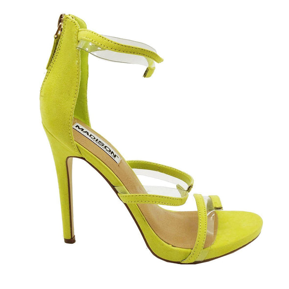 Madison Maegan Mustard Sandal Heels