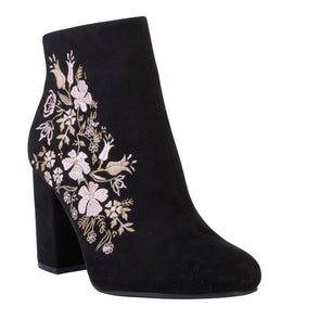 Madison Paisley Black Ankle Boots-Madison Heart of New York