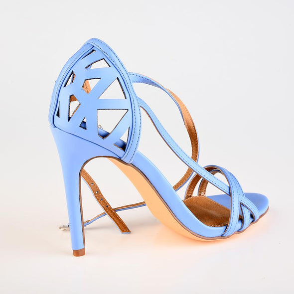 Madison Pam Strappy Heel Sandal - Blue
