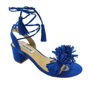 Madison Rio Cobalt Blue Black Heels