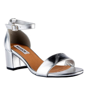 Madison Sydney Silver Block Heels-Madison Heart of New York