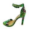 Madison Tiara Green Print Heels