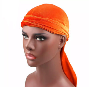 Velvet Durag- Sunset Orange