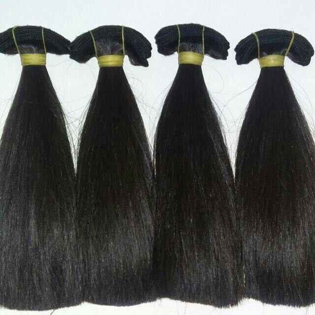 Indian Straight Temple Hair
