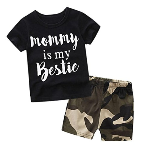 Mommy Is My Bestie Camo 2pc Set