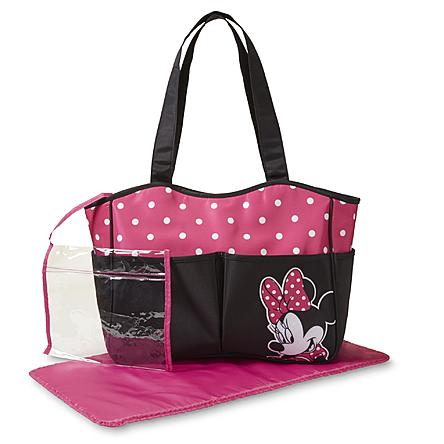 Disney Minnie Mouse Infant Girls' Diaper Bag & Changing Pad - Dots