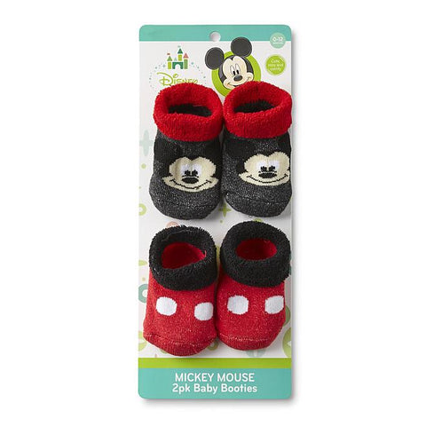 Mickey Mouse Infant Boys' 2-Pairs Bootie Socks
