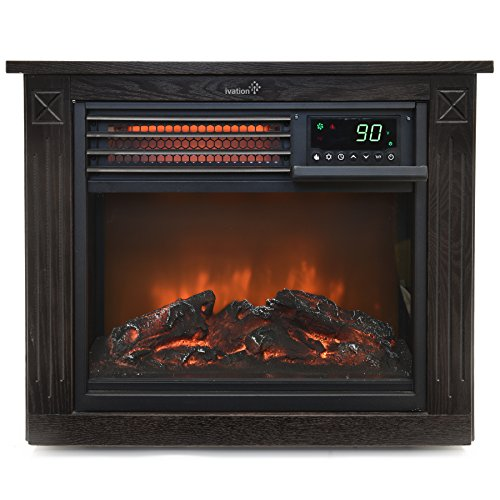 Ivation 5,100 BTU Infrared Electric Fireplace