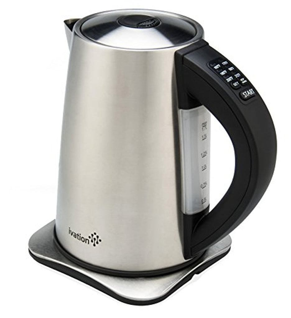 Ivation Stainless Steel Electric Cordless Kettle