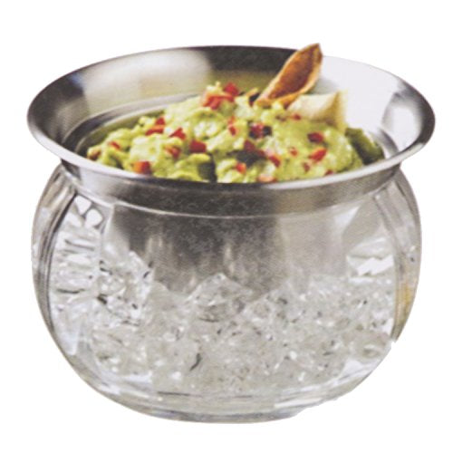 Stainless Steel Dip Bowl With Vented Ice Chamber