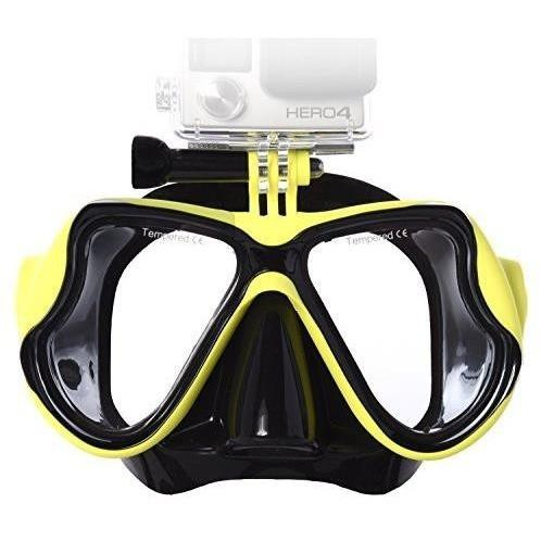 Ivation Diving Mask w/ GoPro Mount for Superior Fit & Visibility