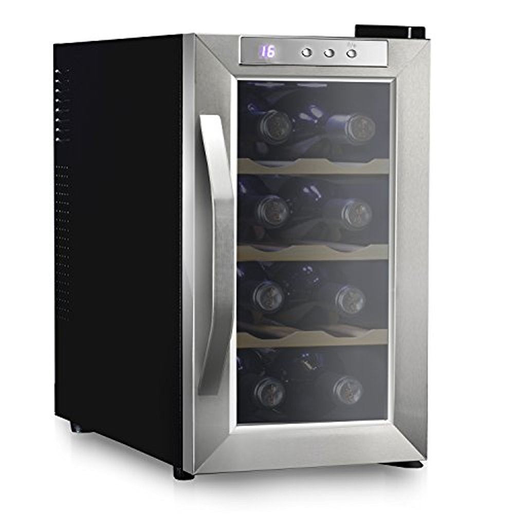 Ivation 8 Bottle Thermoelectric Stainless Steel Wine Cooler