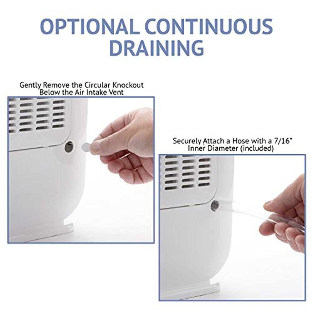 13 Pint Dehumidifier, With Continuous Drain Hose