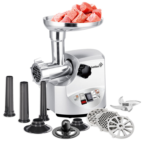 Ivation Electric Stainless Steel Meat Grinder Mincer