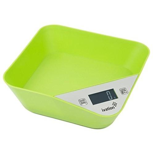 Ivation IvationTM Lightweight Kitchen Bowl w/Digital Scale - Turquoise Green