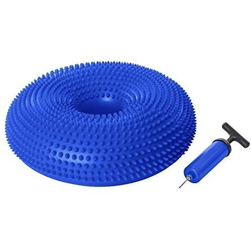 Ivation Inflatable Balance Disc Core Training Cushion/Seat w/ 8-Inch Air Pump