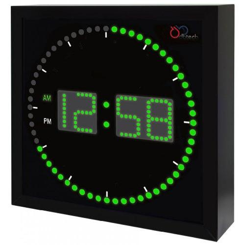 Ivation Stylish Big Digital Led Clock w/ Circling Led Second Indicator
