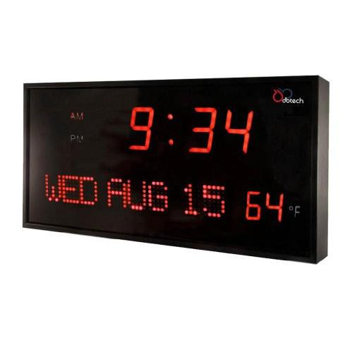Ivation Oversized Digital Led Calendar Clock w/ Day Date And Temperature