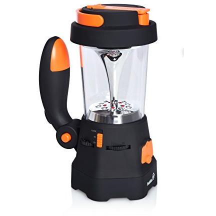 Ivation Hand Crank Camping Lantern w/ Flashlight, SOS Siren, Radio & Charger