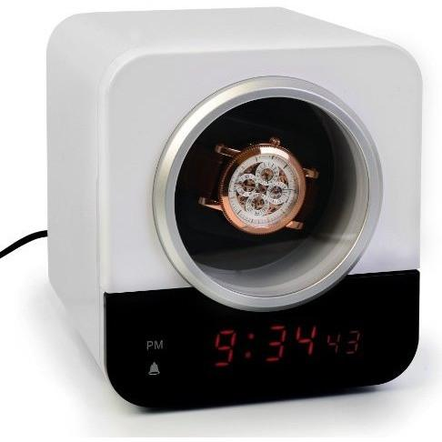 Ivation Automatic Single Watch Winder | Built In IC Timer & LED Alarm Clock