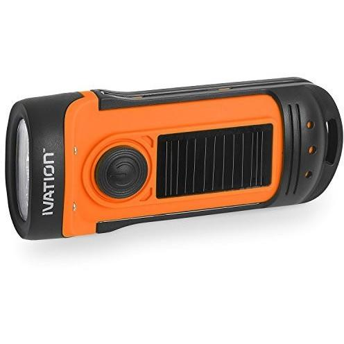 Ivation Solar & Hand Crank Rechargeable Flashlight