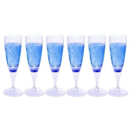 Ivation Ivation LED Waterproof Light-Up Champagne Flute Cups