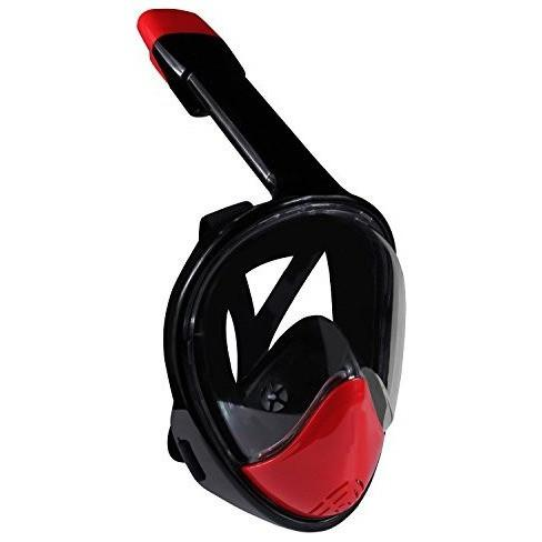 Ivation Full-Face Snorkel Mask - 180° Visibility w/ Panoramic Viewing Area