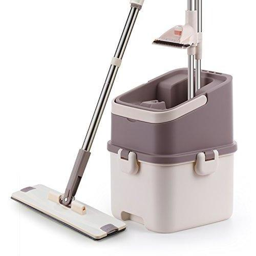 Ivation Ivation Easy Rinse Self-Cleaning Flat Mop w/ Washing & Drying Station