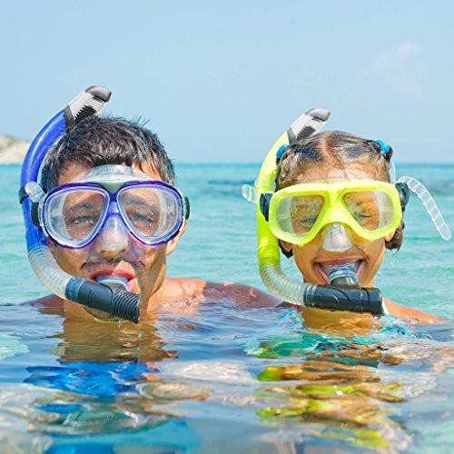 Ivation Snorkel Mask - Diving Mask - Single Lens Frameless diving mask