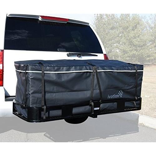 Ivation Waterproof Large Hitch Tray Cargo carrier bag + Storage Bag