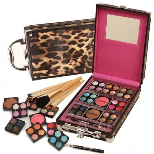 Ivation Makeup Kit - Including Eyeshadow, Blusher, Lip Gloss & Brush Set
