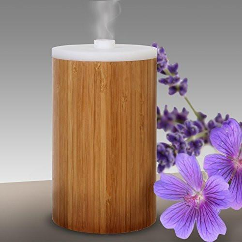 Ivation Bamboo 100ml Aromatherapy Essential Oil Diffuser w/ LED Lamp